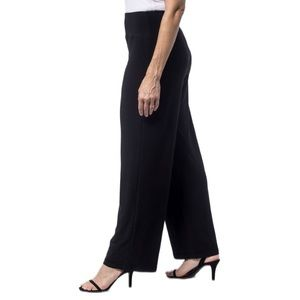 SYMPLI Black Wide Leg Flowy Knit Pant Pull On 14
